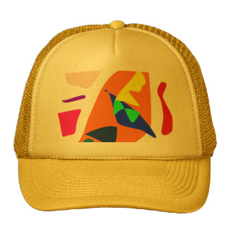 Lawn Yard Orange Bat Straight River Bridges 1 Trucker Hat