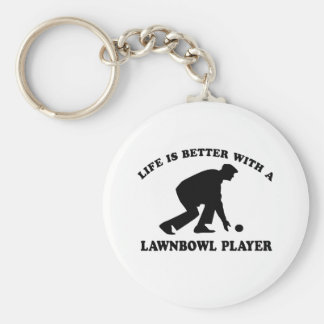 Lawnbowling vector designs keychain