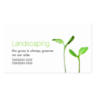 Lawncare  Landscaping Law green sprouts Business Card