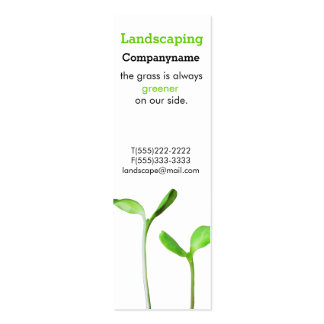 Lawncare  Landscaping Law green sprouts Double-Sided Mini Business Cards (Pack Of 20)
