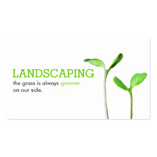 Lawncare Landscaping Lawn green sprouts Business Card