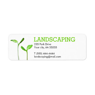 Lawncare Landscaping Lawn green sprouts Label
