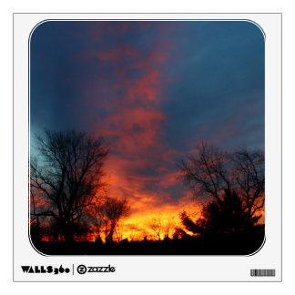 Lawndale Cemetary Fiery Sunset II Wall Sticker