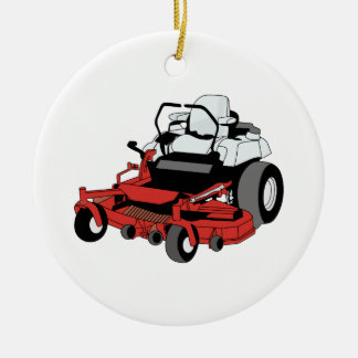 Lawnmower Ceramic Ornament