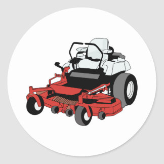 Lawnmower Classic Round Sticker