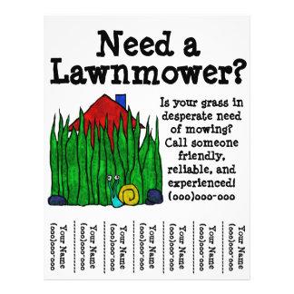 grass cutting flyers