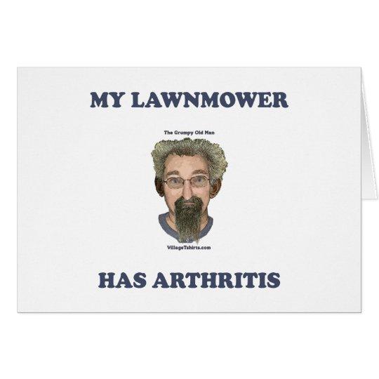 Lawnmower Has Arthritis Card