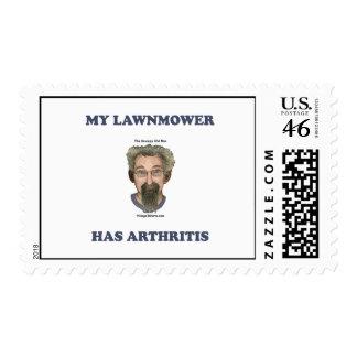 Lawnmower Has Arthritis Stamps