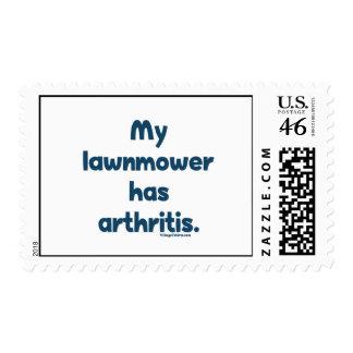 Lawnmower Has Arthritis Stamp