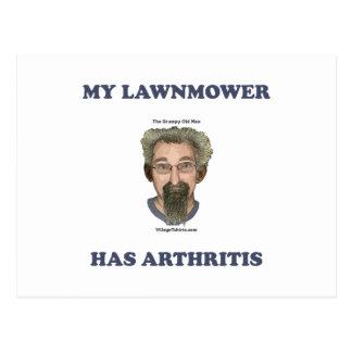 Lawnmower Has Arthritis Postcard