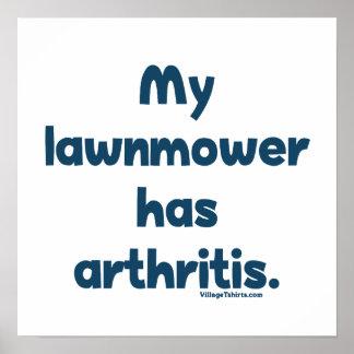 Lawnmower Has Arthritis Print