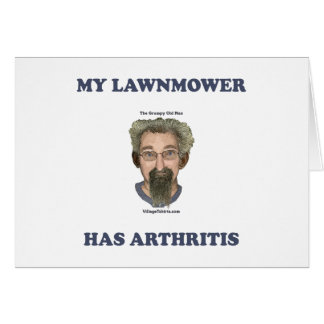 Lawnmower Has Arthritis Stationery Note Card