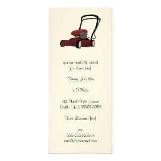 Lawnmower 4x9.25 Paper Invitation Card