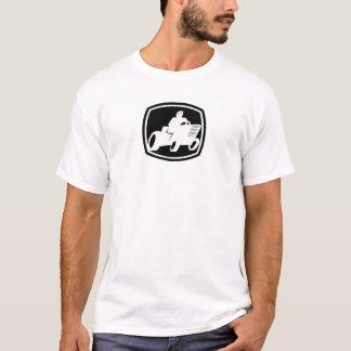 Lawnmower Racing Black and White logo Shirt