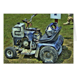 Lawnmower Racing Card #3 - Blank