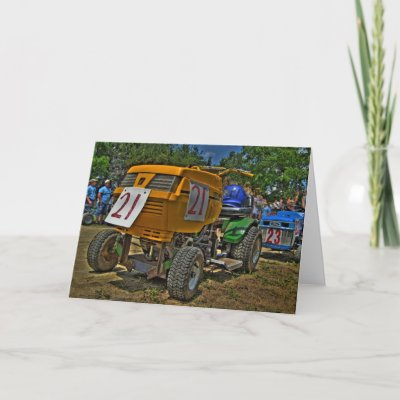 Auto Racing Christmas Cards on Lawnmower Racing Card  4   Blank From Zazzle Com