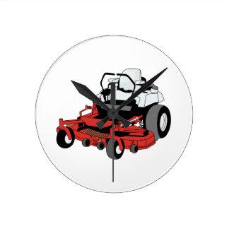 Lawnmower Round Clock