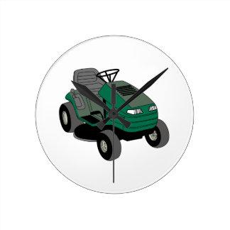 Lawnmower Round Wallclock