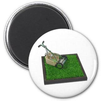 LawnmowerOnTheGrass100711 Refrigerator Magnets