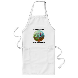 Lawns Are For Losers long apron