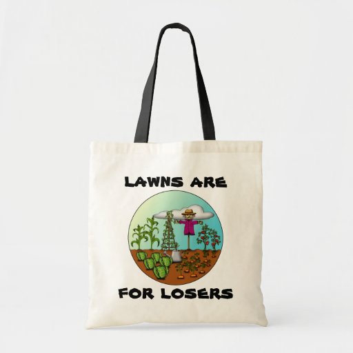 Lawns Are For Losers, shopping bag Budget Tote Bag