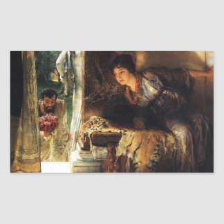 Lawrence Alma-Tadema 1883 Welcome Footsteps Rectangular Sticker