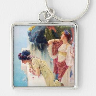 Lawrence Alma-Tadema (1895) 'A Coign of Vantage' Keychain