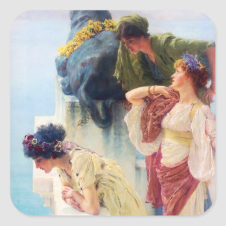 Lawrence Alma-Tadema (1895) 'A Coign of Vantage' Square Sticker