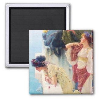 """Lawrence Alma-Tadema (1895) """"una esquina de Vantag Imán Cuadrado"""