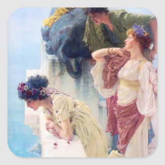 Lawrence Alma Tadema A Coign of Vantage Square Sticker