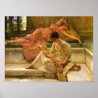 Lawrence Alma-Tadema - A favorite poet Poster