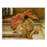 Lawrence Alma-Tadema - A favorite poet Posters