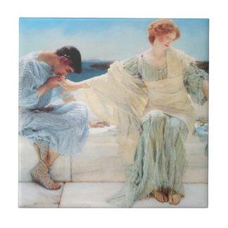 Lawrence Alma Tadema Ask Me No More Tile