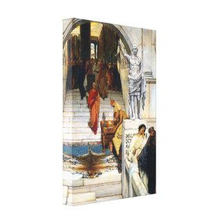 Lawrence Alma-Tadema - audiencia con Agrippa Impresion De Lienzo