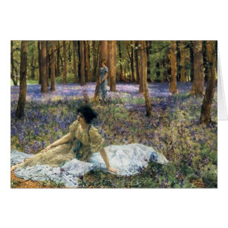 Lawrence Alma Tadema Bluebells Greeting Card