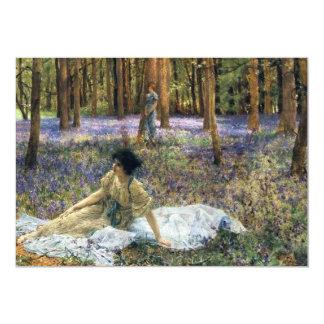 Lawrence Alma Tadema Bluebells Personalized Invitation