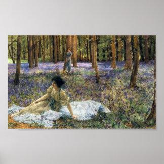 Lawrence Alma Tadema Bluebells Poster