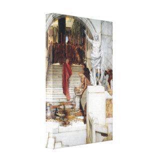 Lawrence Alma-Tadema - después de la audiencia Impresión En Lona Estirada