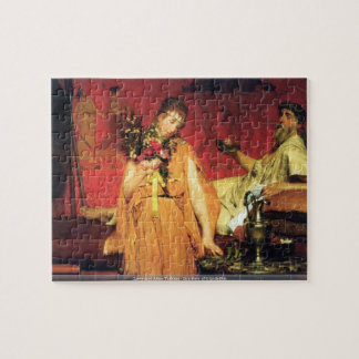 Lawrence Alma-Tadema - In a state of trepidation Jigsaw Puzzles