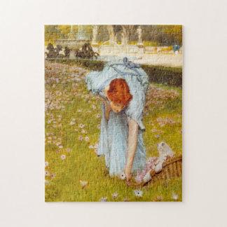 Lawrence Alma Tadema Spring in the Garden Puzzle