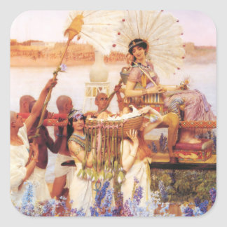 Lawrence Alma Tadema The Finding of Moses Square Sticker