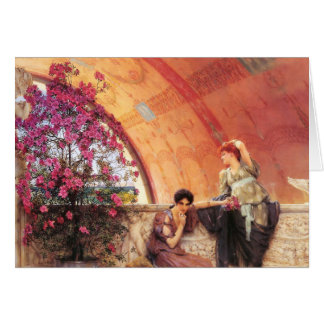 Lawrence Alma Tadema Unconscious Rivals Greeting Cards