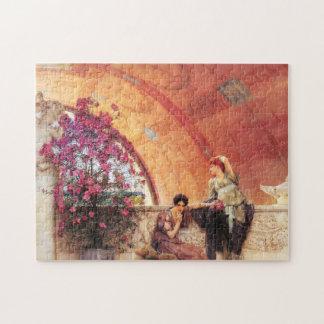 Lawrence Alma Tadema Unconscious Rivals Jigsaw Puzzle