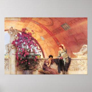 Lawrence Alma Tadema Unconscious Rivals Poster
