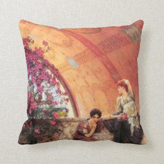 Lawrence Alma Tadema Unconscious Rivals Throw Pillow