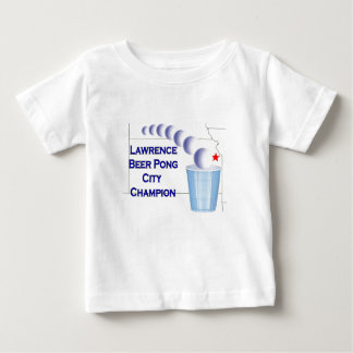 Lawrence Beer Pong Champion Baby T-Shirt