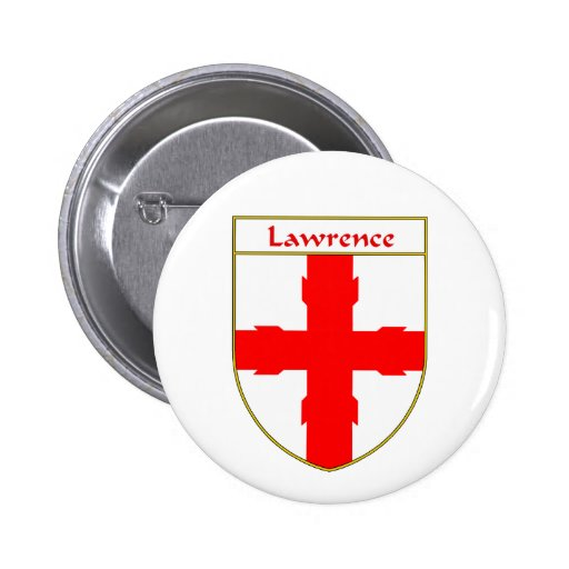 Lawrence Coat of Arms/Family Crest 2 Inch Round Button