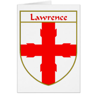 Lawrence Coat of Arms/Family Crest Card