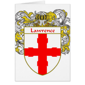 Lawrence Coat of Arms/Family Crest (Mantled) Card
