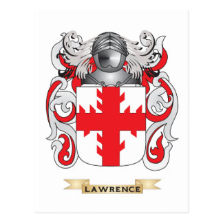 Lawrence Coat of Arms (Family Crest) Postcard